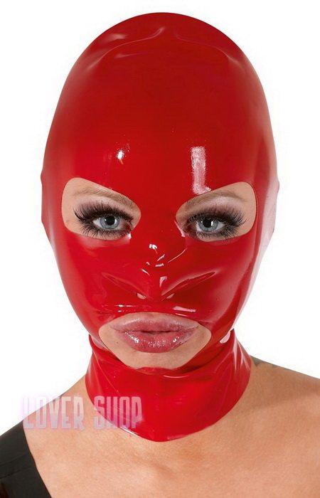 Латексная красная маска Late X Maske