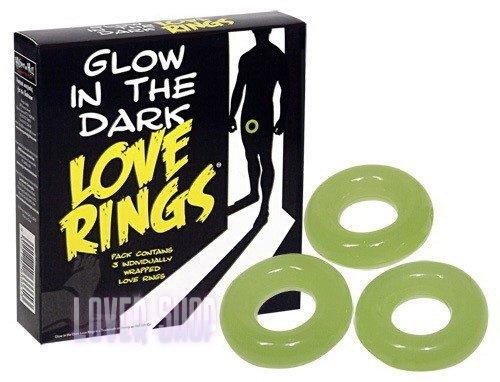 Набор эрекционных колец Glow In The Dark Love Rings