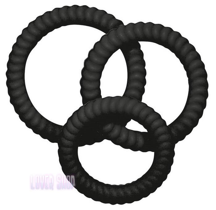 Набор эрекционных колец Lust 3 Black