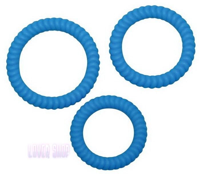 Набор эрекционных колец Lust 3 Blue