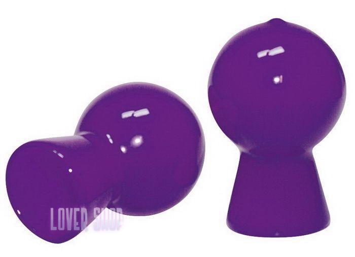 Вакуумные помпы для сосков Nipple Sucker, фиолетовые