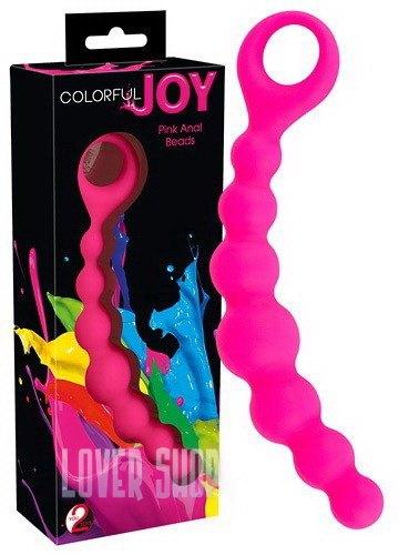 Анальные шарики Colorful Joy Pink Anal Beads