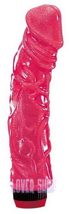Вибратор Big Jelly, розовый