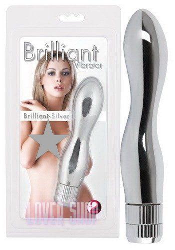 Вибратор Brilliant-Silver