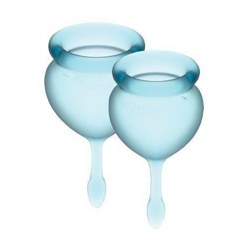 Набор менструальных чаш Satisfyer Feel Confident Good light blue 15 и 20 мл