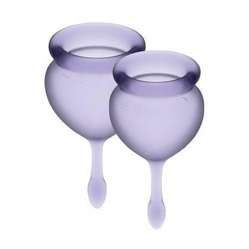 Набор менструальных чаш Satisfyer Feel Confident Good lila 15 и 20 мл