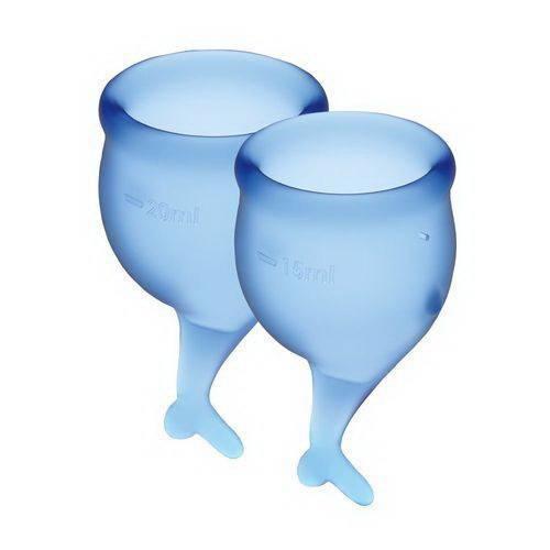 Набор менструальных чаш Satisfyer Feel Secure dark blue 15 и 20 мл