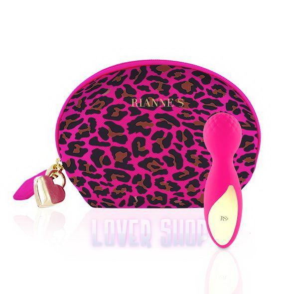 Мини вибромассажер Rianne S Lovely Leopard Pink