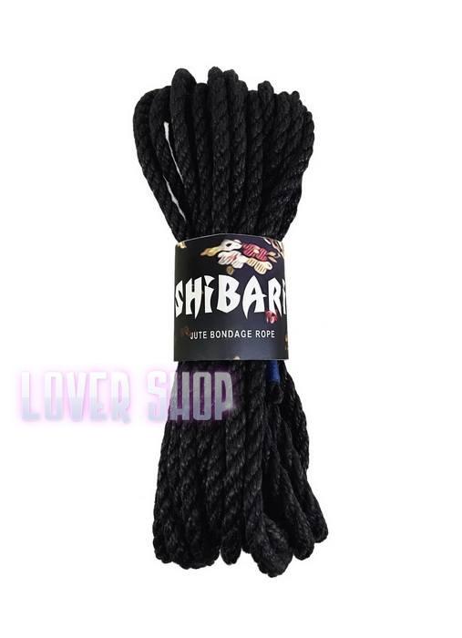 Джутовая веревка для Шибари Feral Feelings Shibari Rope 8 м черная