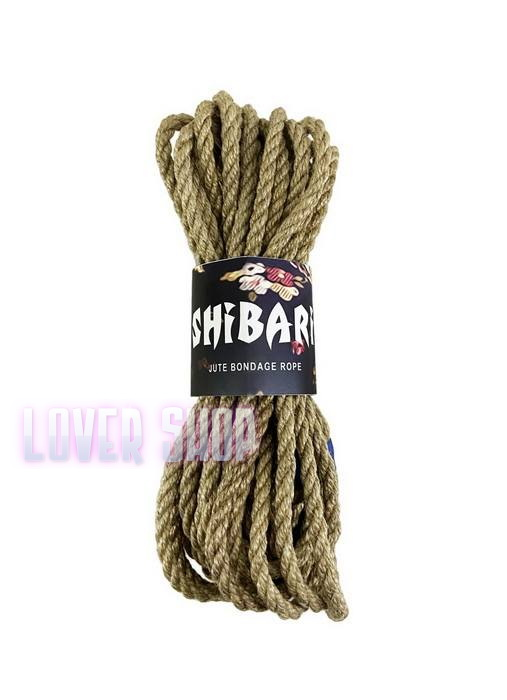 Джутовая веревка для Шибари Feral Feelings Shibari Rope 8 м серая