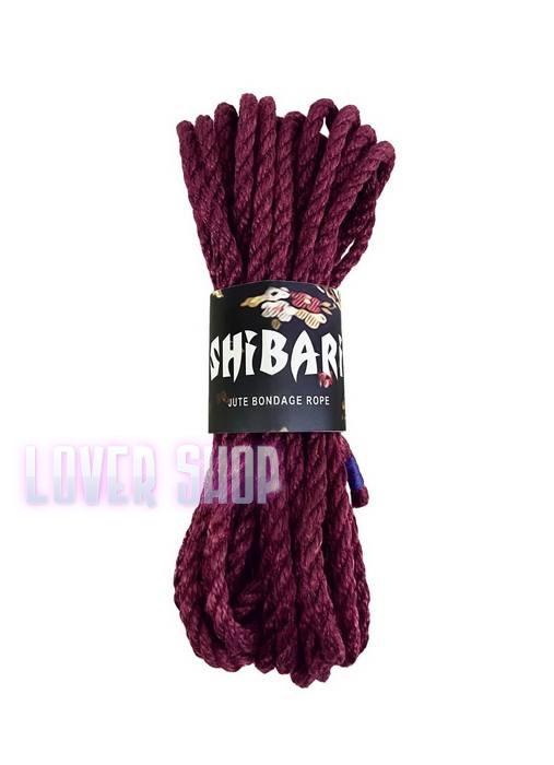 Джутовая веревка для Шибари Feral Feelings Shibari Rope 8 м фиолетовая