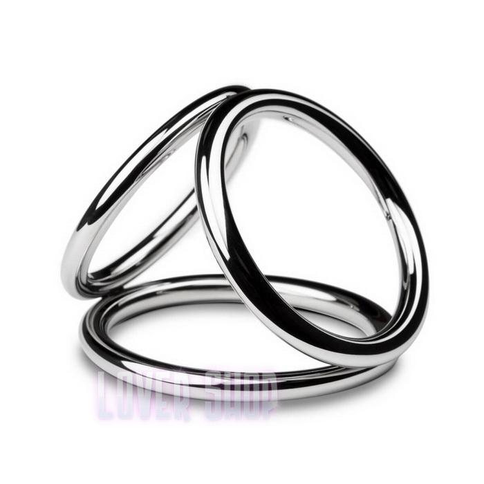 Тройное эрекционное кольцо Sinner Gear Unbendable Triad Chamber Metal Cock and Ball Ring Large