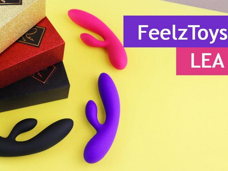FeelzToys Lea Rabbit Vibrator - видео-обзор на гибкий вибратор кролик с двумя моторами